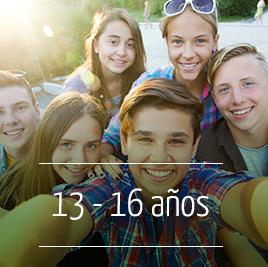Campamento de Verano en Inglés para niños de 13 a 16 años