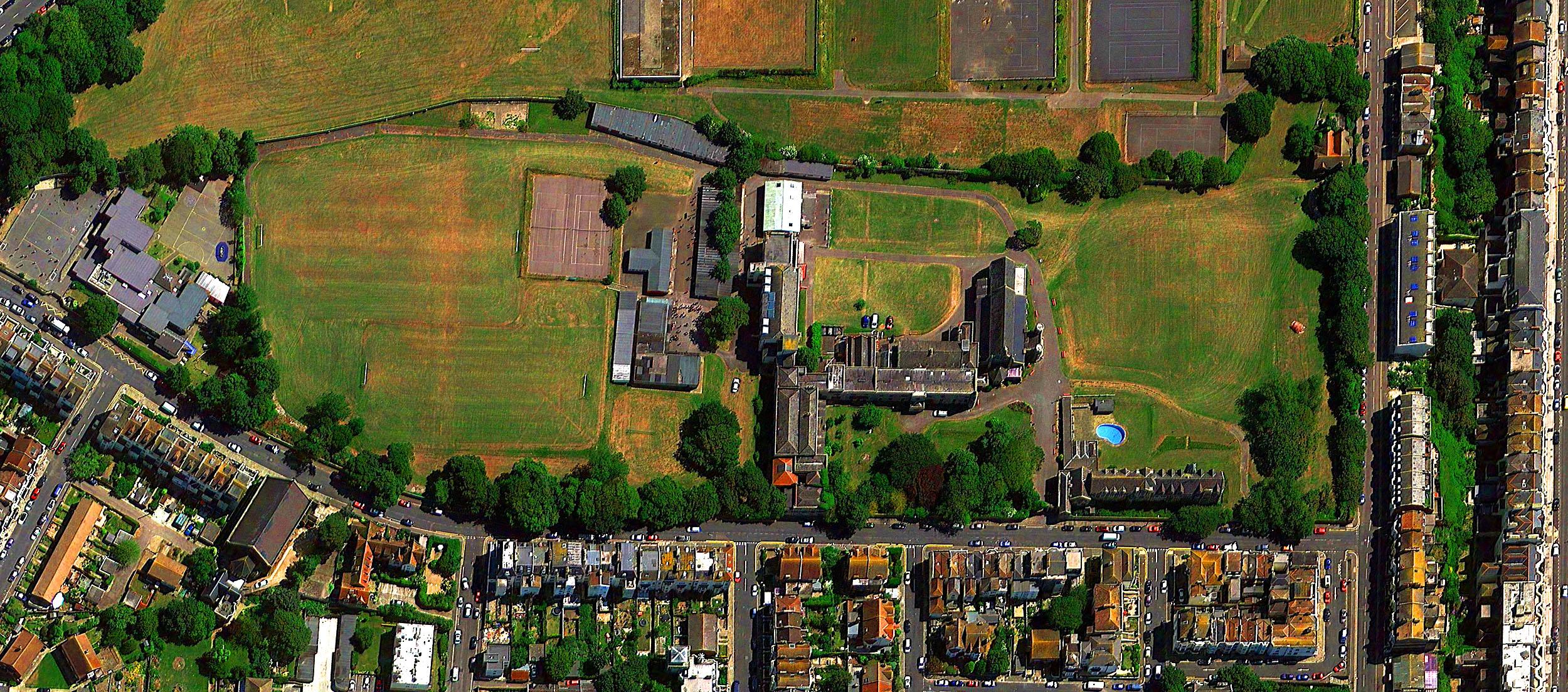 Vista aérea de las instalaciones